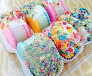 food, ice cream, and cake image