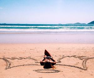 angel, girl, and beach image