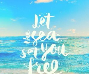 sea, summer, and quotes image
