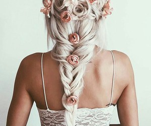 flowers, hairstyle, and nice image