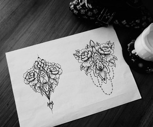 black, draw, and white image