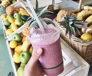 fruit, drink, and smoothie image