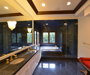bathroom, california, and decor image