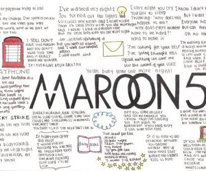 maroon 5, Lyrics, and music image
