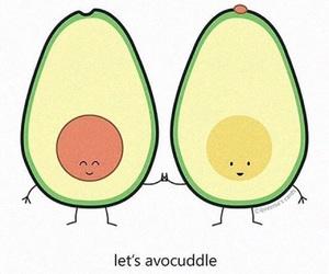 avocado, cuddle, and funny image
