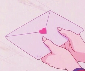 anime, pink, and heart image