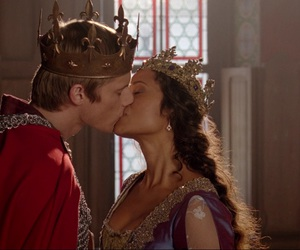 gwen, merlin, and king and queen image