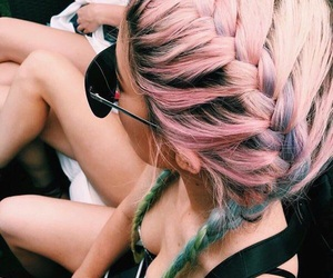 blue, braids, and hipster image