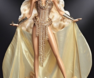 barbie, gold, and doll image