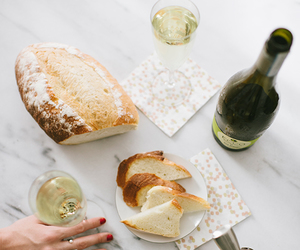 wine, bread, and food image
