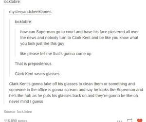 clark kent, tumblr posts, and funny image