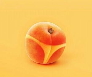 peach, minimal, and orange image