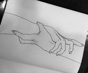 arte, dibujos, and manos image