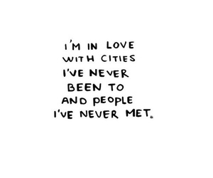 quote, city, and love image