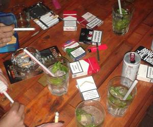drunk, marlboro, and party image