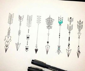 arrow, art, and draw image