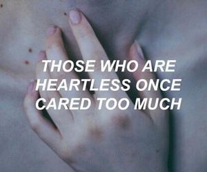 heartless, sad, and idk image