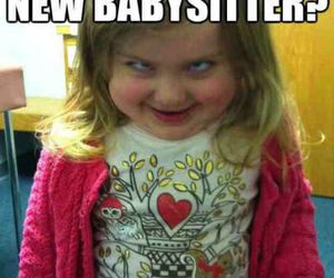 babysitter, funny, and knives image