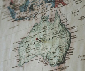 map, australia, and travel image