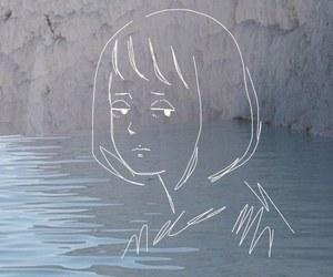 sad, art, and pale image