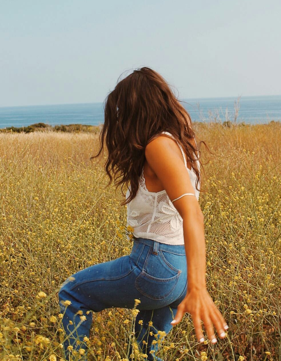 denim, field, and jeans image