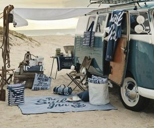 beach, summer, and vw image