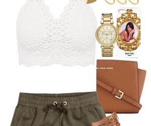 sandals, whitetop, and greenshorts image