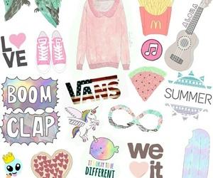 vans, tumblr, and unicorn image
