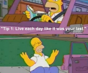 funny, last day, and homer simpsom image