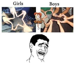 boys, lol, and funny image