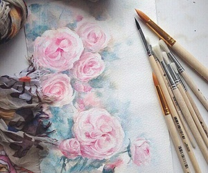 flowers and watercolors image