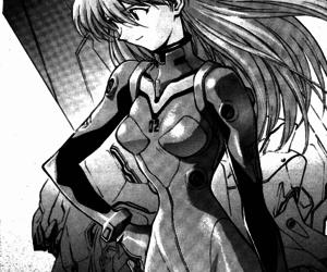 asuka, monochrome, and eva02 image
