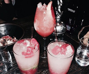 drink, rose gold, and party image