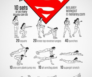 fitness, Supergirl, and workout image