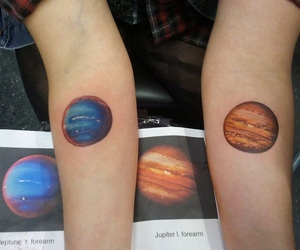 tattoo, planet, and jupiter image