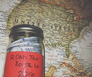 map, money, and Road Trip image