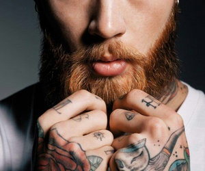 gorgeous man, hand tattoos, and finger tattoo image