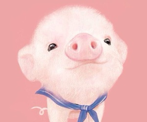 pig, cute, and pink image