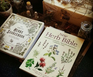 book and herbs image