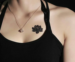 black, chest, and flower image