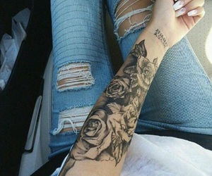 tattoo, rose, and nails image