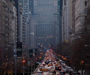 city, new york, and car image