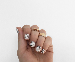 nails, nail art, and ring image