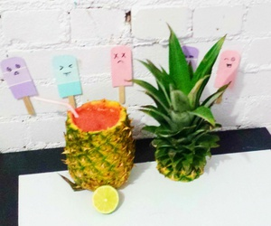 pineapple, pineapples, and summer image