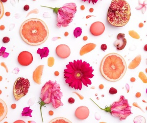 background, fruit, and flowers image
