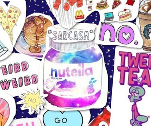 nutella, wallpaper, and pink image