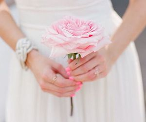bouquet, nails, and pink image