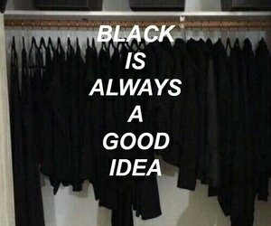 black, good, and idea image