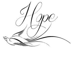 black and white, hope, and message image