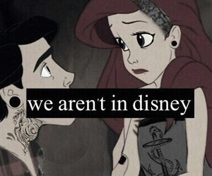 disney, grunge, and ariel image
